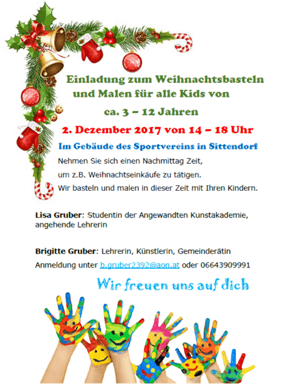 Weihnachtsbasteln Im Kindergarten.Weihnachtsbasteln Und Malen Gemeinde Wienerwald Startseite